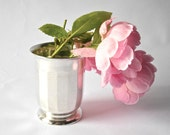 SILVER TUMBLER Lovely french silver plated tumbler - can be a vase - cottage chic