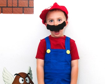 My Arcade: Mario Costume - Sizes 2T, 3T, 4T, 5, 6, 7, 8 and 10