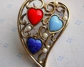 Heart pin with Stones