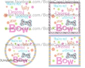 """DIY Printable """"You're Not Fully Dress Without Your Bow"""" Shrinkable Digital Images (JPEG File)"""