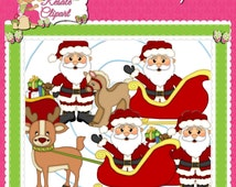 Santa 2 Clipart (Digital Download)