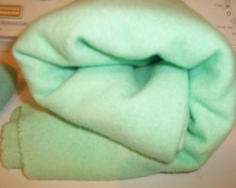Seafoam - mint - green 3 Hand-dyed Felted/fulled 100%  Pendleton Wool