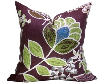 Sulu pillow cover in Plum