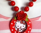 Polka Dot Hello Kitty Necklace
