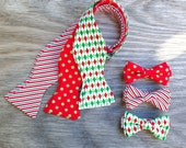 Father and Son Christmas Ties -- Matching Father and Son Tie -- Men's Christmas Bow Tie -- Boy's Christmas Bow Tie -- Boy's Christmas Ties