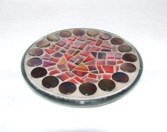 SALE: Mosaic Candle Plate