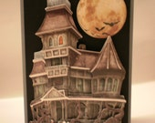 Halloween Card, - Haunted House