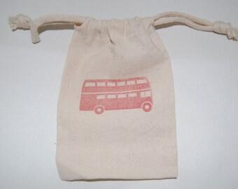Double Decker Bus Favor Bags / Set of 30