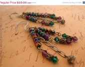 50% off ALL MST GO Swarovski Crystal Earrings with Purple & Turquoise Crystal