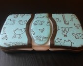 Baby Wipes Case Travel Container Light Blue With Animals