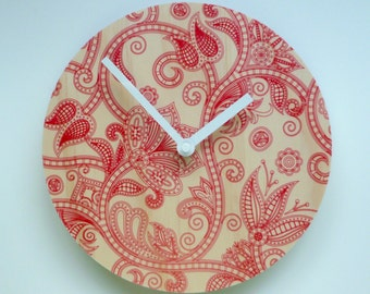 Objectify Linear Flora Wall Clock