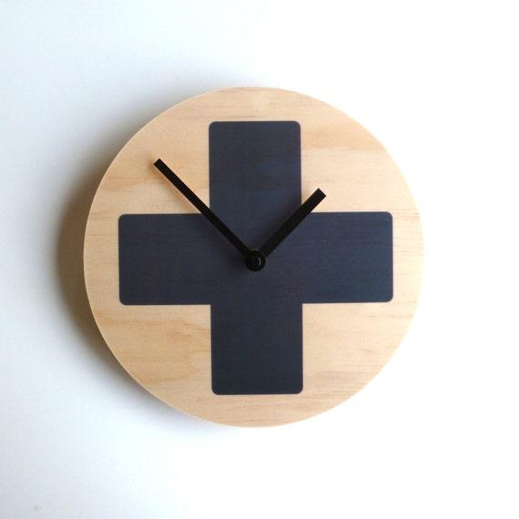 Objectify Grey Cross Wall Clock
