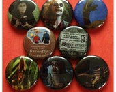 "8 Brand New 1"" ""Beetlejuice"" Button Set"