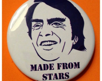 The Carl Sagan 2.25 Inch Bottle Opener or Buttons