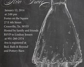 Chalkboard Bridal Shower Invitation (Digital File, Print Anywhere) BS02