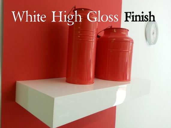 24 Long Floating White Shelves High Gloss Set Of 3 By