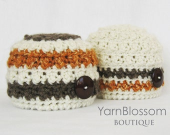CROCHET PATTERN - The Carter Beanie - newborn baby photography prop crochet hat babies photo prop