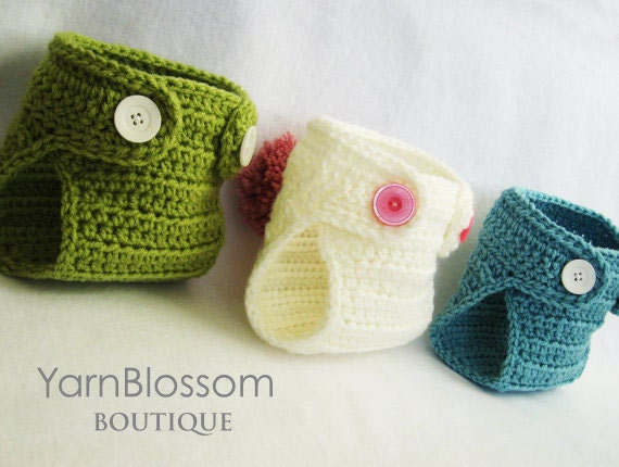 Baby CROCHET PATTERN - Diaper Cover - (sizes newborn-24 months) PDF ...