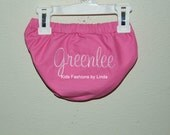 Personalized Hot Pink/Light Pink Diaper Cover