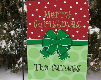 Merry Christmas Garden Flag, winter, christmas, christmas decor, outdoor christmas decor, outdoor decor, christmas flag -gfy83069452DS