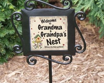 Our Nest Personalized Garden Stake -gfy63129484