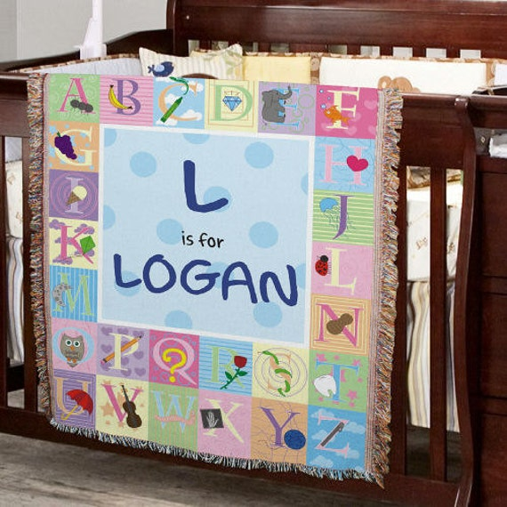 Items Similar To Personalized ABC Baby Blanket, Baby
