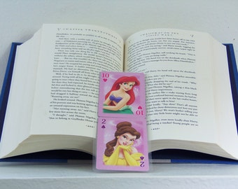 Ariel and Bell Bookmark - Disney Princess Bookmark - Princess Bookmark - Disney Princess - Ariel - Bell - Upcycled Bookmark