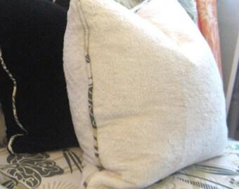 "Cozy Hemp Fur Pillows - custom order for Heather F. --  2, square 20"" ,"