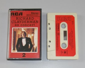 1980s Music Cassette Tape: Richard Clayderman in Concert.