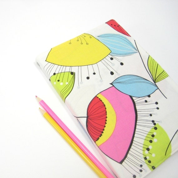 Large planner 2014 agenda, white pink blue yellow green black, A5 lined notebook, Wedding planner