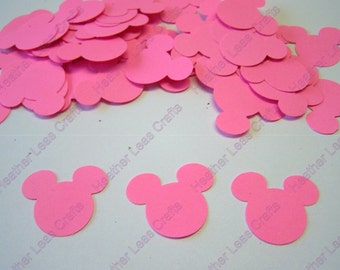 Hot Pink Minnie Mouse Confetti - Minnie Mouse Cut Out - Minnie Mouse Die Cut - Mickey Mouse Theme - Minnie Mouse Party
