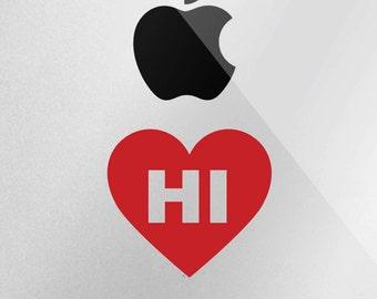 Hawaii Love Decal - I Heart Hawaii Decal for iphone, ipad, Laptop, Car
