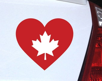 Canada Love - I Heart Canada Decal for iphone, ipad, Laptop, Car