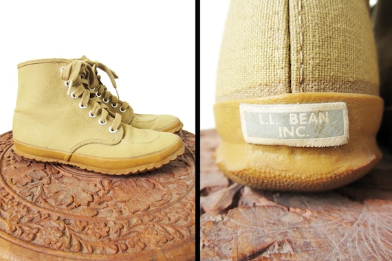 reserved for tootsie vintage 1940s ll bean canvas shoes