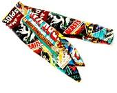 Rockabilly Tie Headband Made with Avengers Marvel Fabric, Comic Head Scarf Made From Thor Iron Man Superhero Fabric