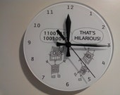 Glass Clock with Funny Robots also with Mug Shirt Print options