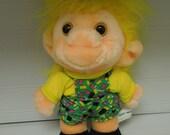 Vintage Plush Trolio Troll Boy Doll