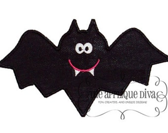 Boy Bat  Embroidery Design Machine Applique