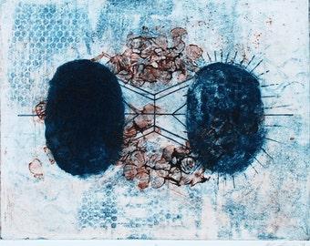 """Harmony - Collagraph Print - 16x20"""""""
