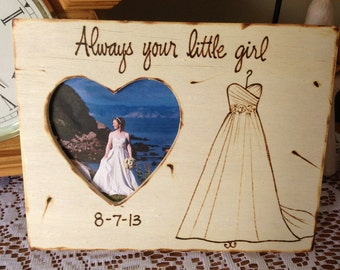Gift for Dad Rustic Wedding Decor Father of the Bride Daddys Little Girl Wedding Day Picture Frame Perfect Rustic Woodland Chic Special Day