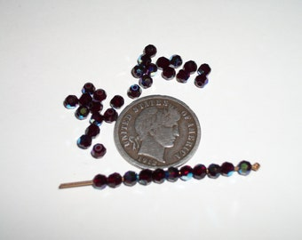 36 Crystal Swarovski 5000 3mm Garnet AB Beads