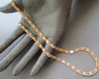 Vintage Raw Brass Flat Scroll Chain 5Ft.