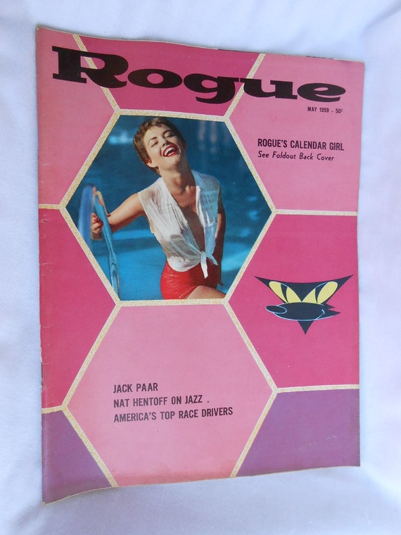 ROGUE MENS GIRLIE PINUP MAGAZINE GORGEOUS BUSTY DD NUDE MODELS PHOTOS 1962