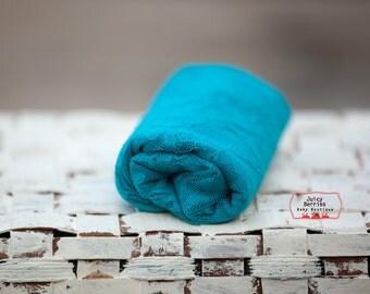 Sale - SKY BLUE STRETCH Lace Wrap -  Newborn Photo Prop, Knit Wrap, Mini Blanket, Photography Props, Floral Stretch Wrap, Cocoon