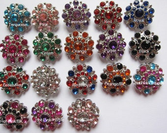 18 Acrylic Rhinestone 27mm Buttons-U Pick PA014
