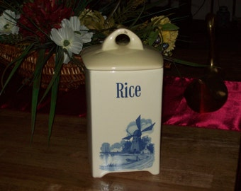 Rice Container Germany Vintage 1950s