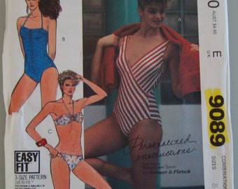 Vintage McCall's Womens Sewing Pattern 9089 size 8-12  Uncut