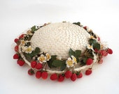 Vintage Hat with Flowers and Berries