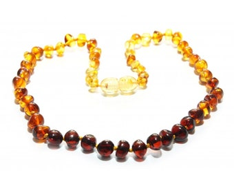 Baltic Amber Teething Necklace - Rainbow Spectrum - Made in Canada