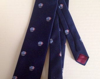 1984 LA Olympic Dark Blue Necktie